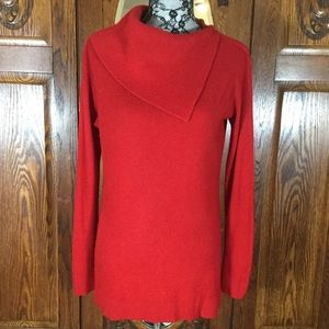 Vince Camuto Red Cowl Neck Oversized Sweater